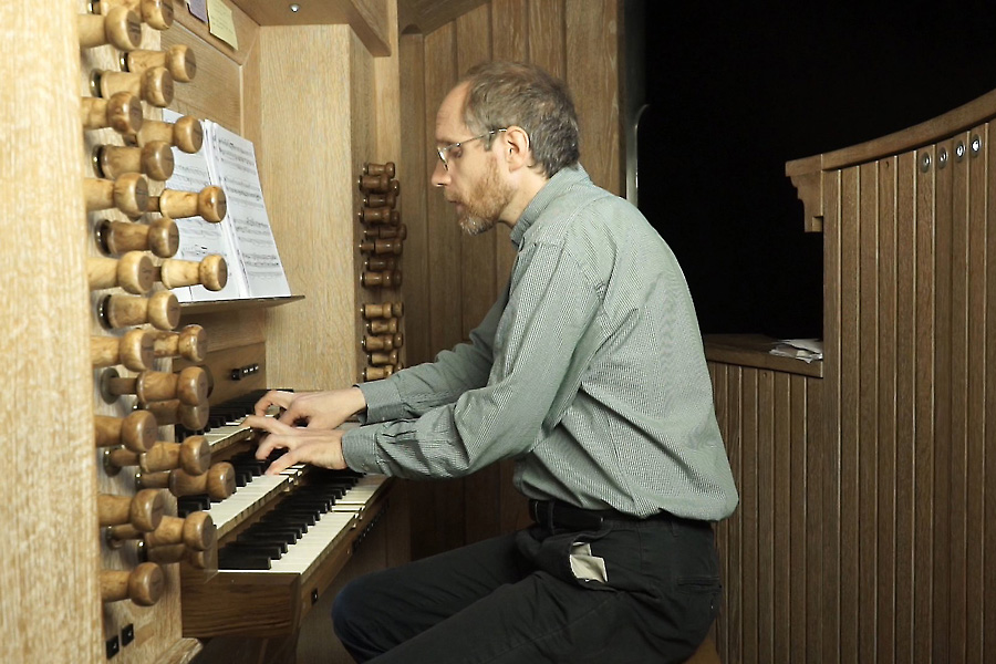Pierre Farago at the Cattiaux organ