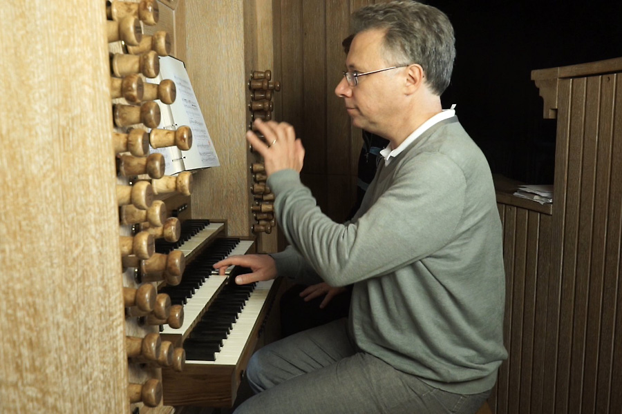 Benoît Mernier at the Cattiaux organ