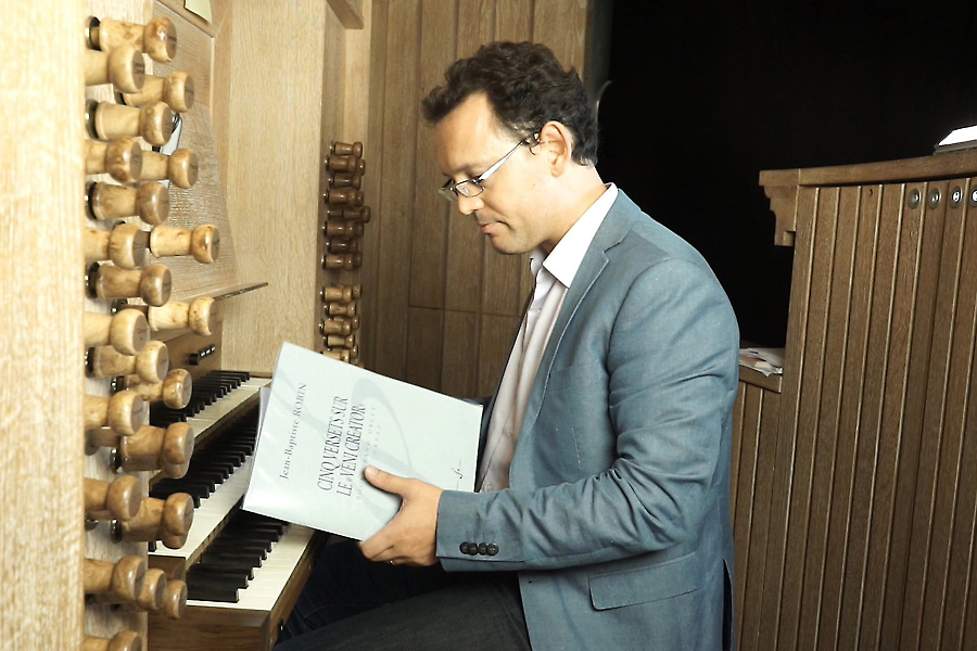 Jean-Baptiste Robin at the Cattiaux organ